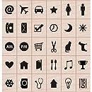 Hero Arts Kelly's Planner Icons Woodblock Stamp Set