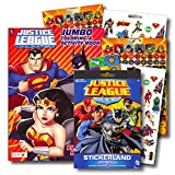 Justice League Coloring Book Bundle with Over 295 Stickers Specialty Separately Licensed GWW Reward Sticker ~ Batman, Superman, Wonder Woman, Aquaman, Cyborg
