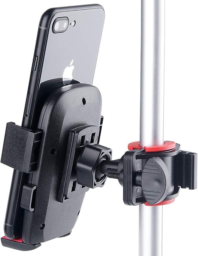 B-Land Soporte de teléfono móvil para YouTube Video y Selfie, soporte para teléfono de bicicleta