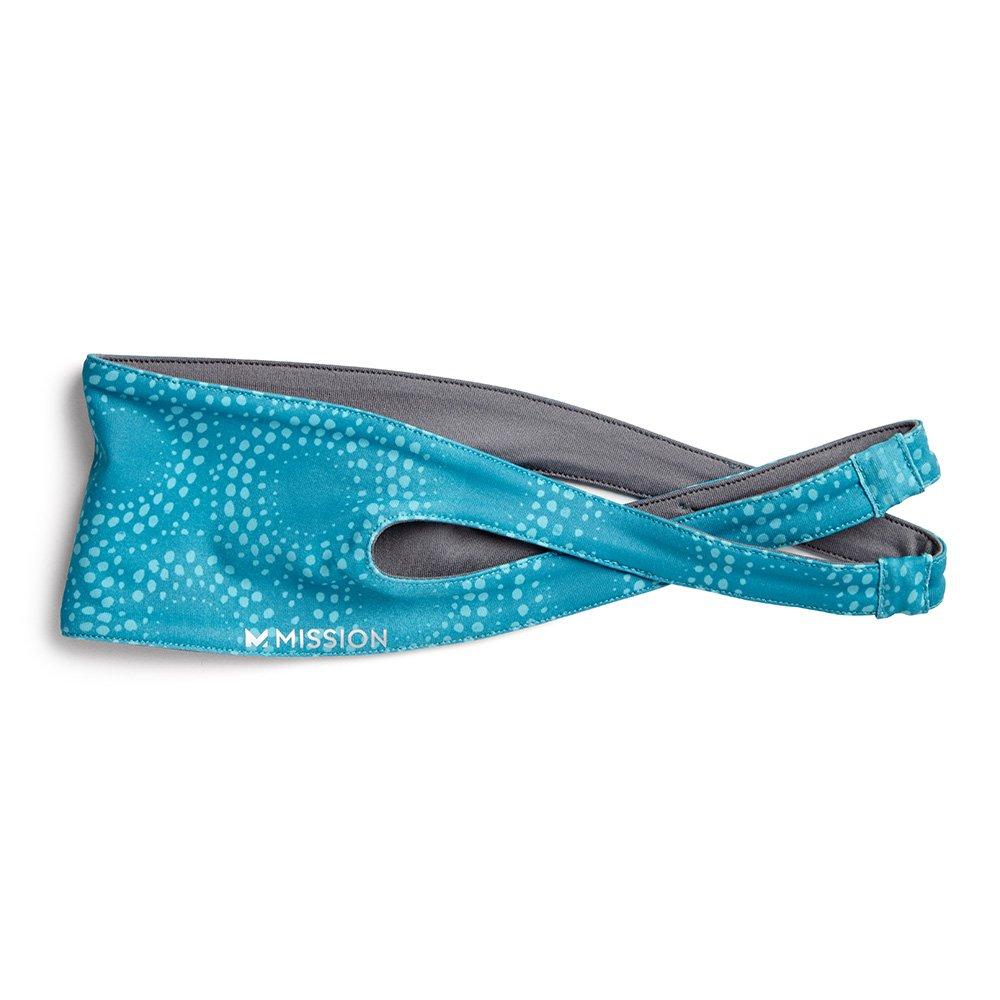 Mission VaporActive Crossover Headband, Breathe Bluebird, One Size