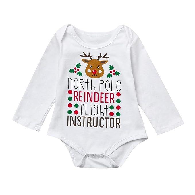 caa57a2a7 Amazon.com  Lisin Cute Newborn Infant Christmas Clothes
