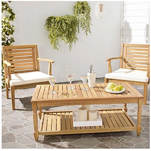Safavieh Outdoor Collection Oakley Coffee Table, Teak Brown