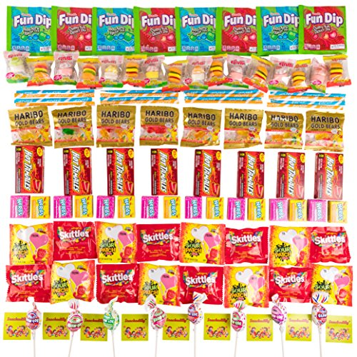 Your Favorite Party Candy Mix - 8 Sets Of 12 of The Most Popular Filler Candies For Your Next Party - Includes The Snackadilly Sticker - The Candy Sour Most