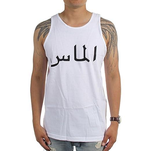 c1c9f771b6005 Amazon.com  Diamond Supply Co. Men s Arabic Tank Top Shirt White ...