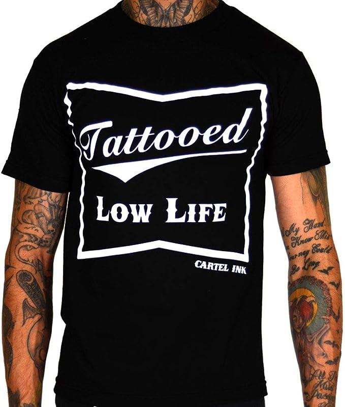 cartel ink Tattooed Low Life Mens T-Shirt