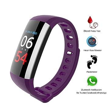 Rastreador Fitness, Smart Reloj Multi Función de [Monitor de frecuencia cardiaca + Tensiómetro de