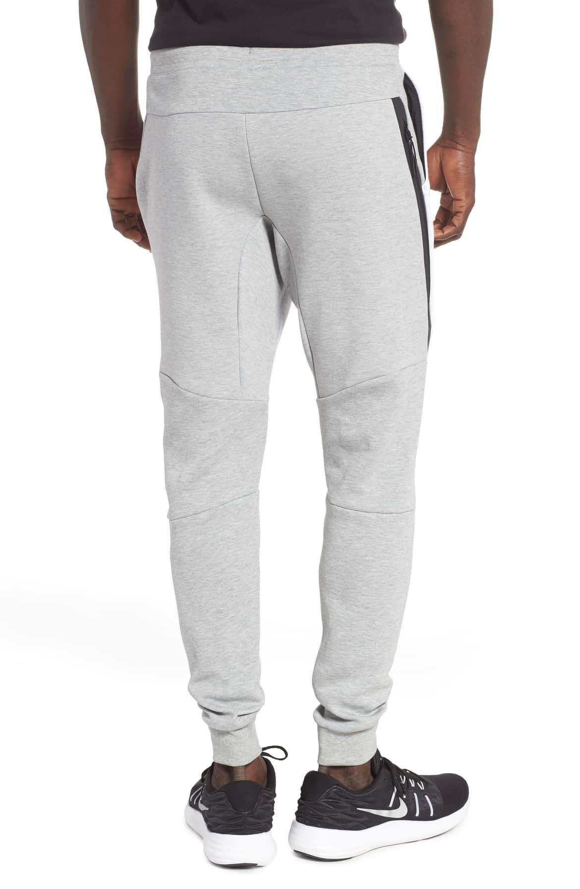 NIKE Mens Sportswear Tech Fleece Jogger Sweatpants (Dk Grey Heather/Birch Heather/Black, Small) by Nike (Image #3)