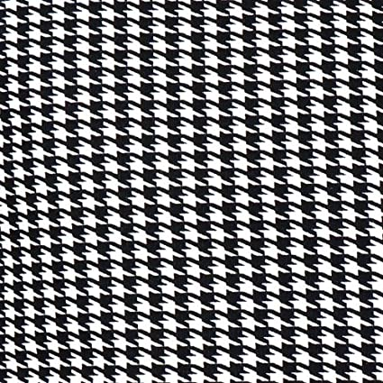 Amazon Com Upholstery Fabric Ticking Black And White Houndstooth