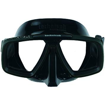 Technisub AQUA LUNG Look - Máscara de buceo (talla L) negro-negro