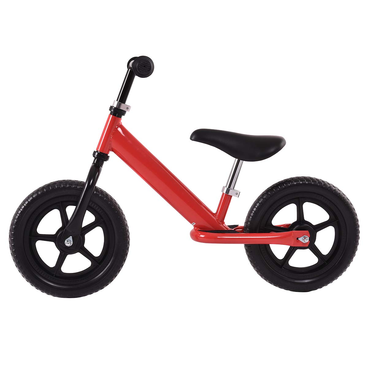 Costzon Kids Balance Bike, 12 Inch Classic Lightweight No-Pedal Toddlers Walking Bicycle w/Height Adjustable Seat and Handle, for Children Boys & Girls Age 2-5