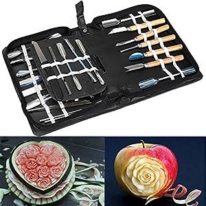 Agile-Shop Culinary Carving Tool Set Fruit Vegetable Food Garnishing / Cutting / Slicing Garnish Tools Kit (46 pcs)