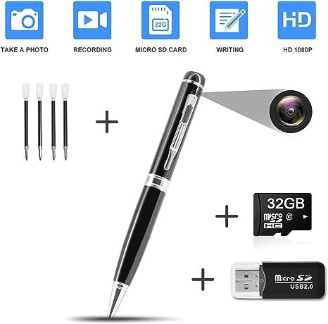 Amazon.com: Lápiz oculto para cámara espía HD 1080P Clip en ...
