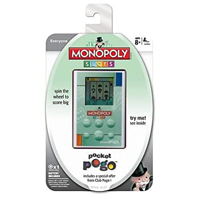 Hasbro MONOPOLY SLOTS ELECTRONIC HANDHELD GAME: Toys & Games