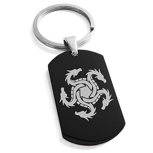 Amazon.com: Tioneer Llavero de acero inoxidable con símbolo ...