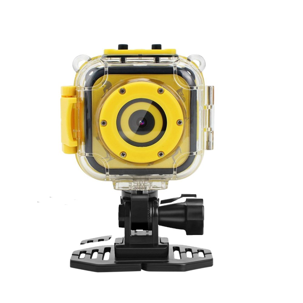 Eoncore Kids Waterproof Camera with Video Recorder Digital Sport Video Camcorder for Cycling Skiing Skating with 8GB Memory Card