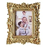 Giftgarden 4x6 Stunning Gold Vintage Picture Frame in hand Painted
