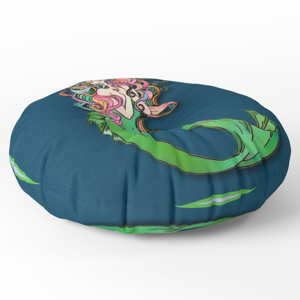 Society6 Colorful Mermaid Floor Pillow Round 30'' x 30''