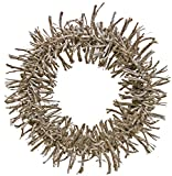 Red Co. Farmhouse White Wash Twig Wreath - Home Decor for Front Door or Indoor Wall. -16 Inches