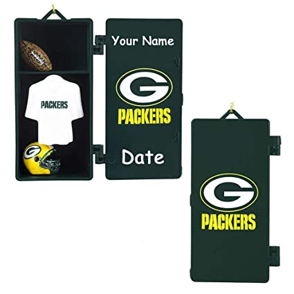 LTD Commodities Personalized NFL Green Bay Packers Football Team Locker  with Helmet and Jersey Hanging Christmas 3dc4fe21f
