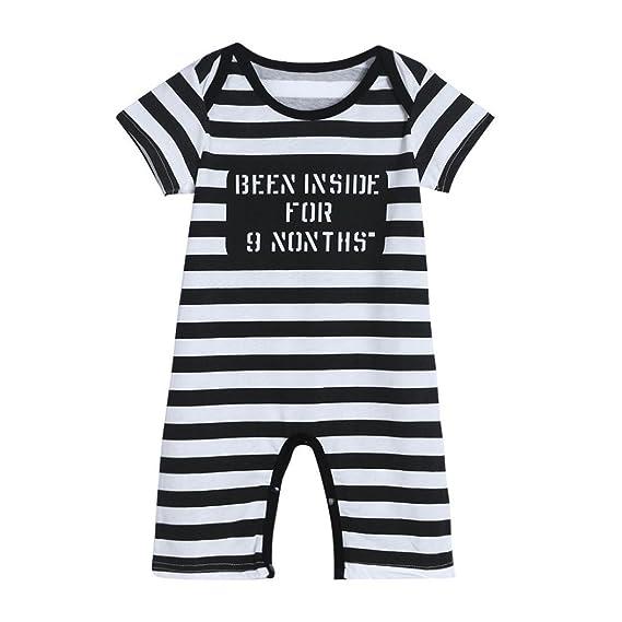 SMARTLADY Niño Bebé Bodies Pijama de manga corta (0-6 meses)