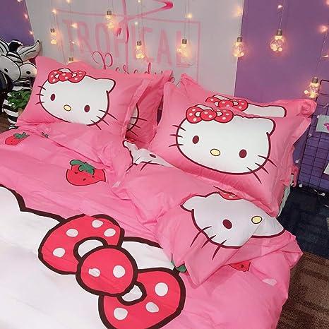 Amazon.com: HOLY HOME Hello Kitty, juego de funda de edredón ...