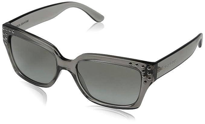 Michael Kors 0MK2066, Gafas de Sol para Mujer, Grey Crystal, 55