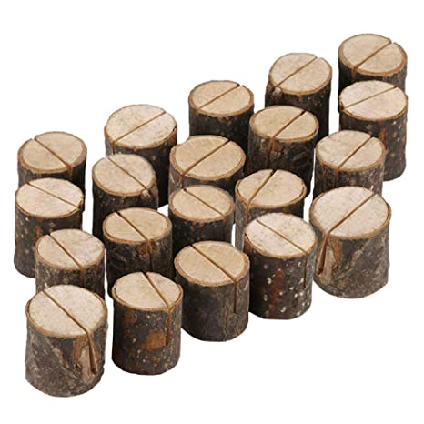 Forepin Lot De 20 Supports Pour Numero Table Place Porte Cartes En Bois Photo