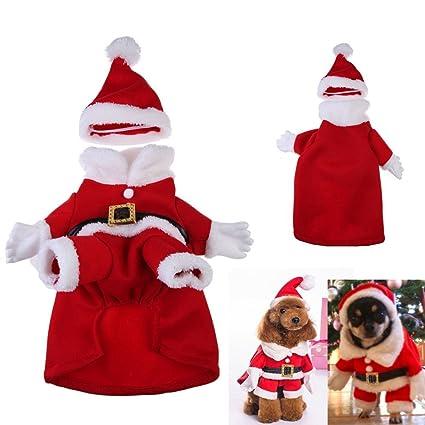 Chinatera, disfraz de Navidad de Papá Noel para perro/gato ...