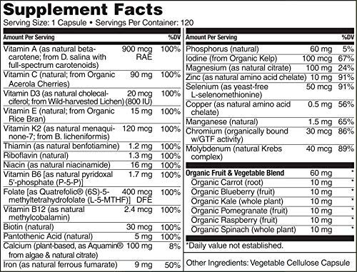 NATURELO One Daily Multivitamin for Women - Best for Hair, Skin Nails - Natural Energy Support - Whole Food Supplement - Non-GMO - No Soy - Gluten Free - 120 Capsules | 4 Month Supply by NATURELO (Image #3)