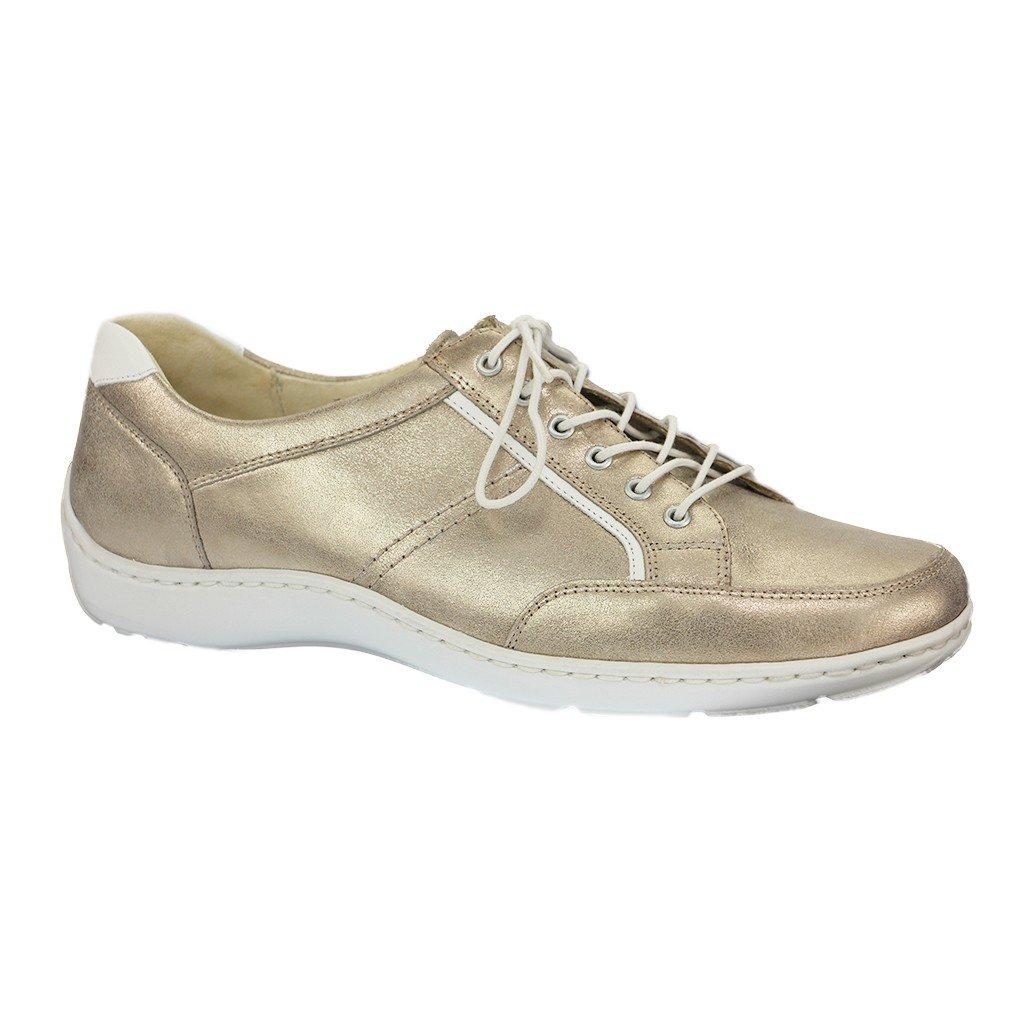 Mujeres Zapatos planos lightgold/weiss dorado, (lightgold/weiss) 496013-885-102 40.5|Plateado - metálico