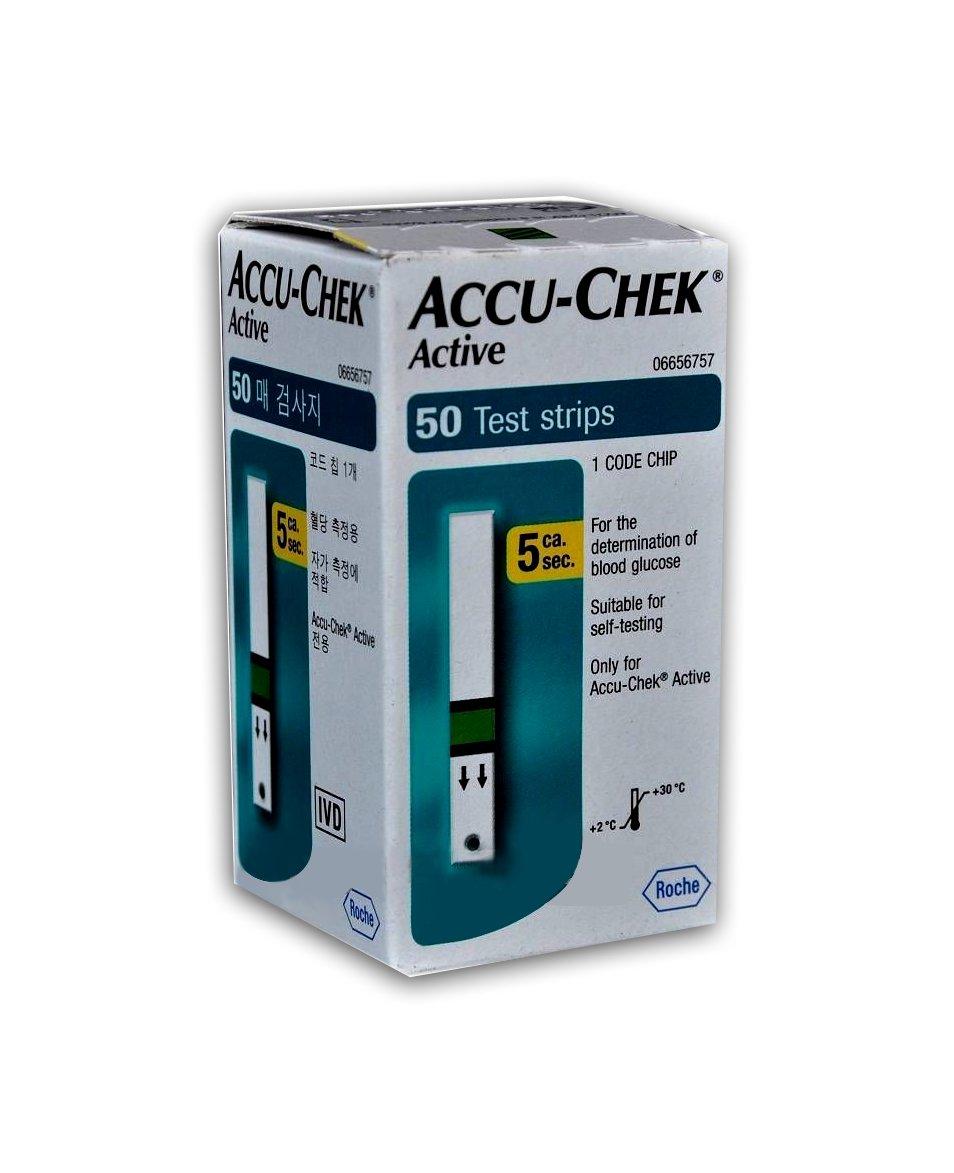 Accu-Chek Active Glucosa En Sangre Test Tiras (50 Unidades): Amazon.es: Salud y cuidado personal