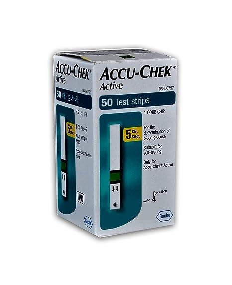 5b8e76faf Accu-Chek Active Glucosa En Sangre Test Tiras (50 Unidades): Amazon ...