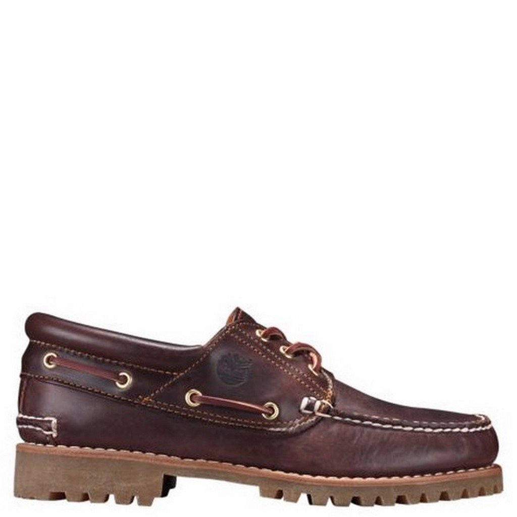 Timberland Men's Classic 3 Eye Lug Boat Shoe,Brown,10.5 M US