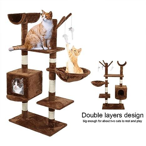 Amazon.com: GOTOTOP - Torre de árbol de gato de varios ...