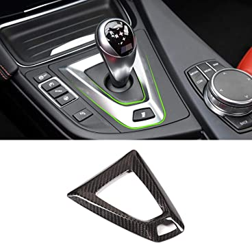 YIWANG 100/% Real Carbon Fiber Car Interior Gear Shift Frame Trim for BMW M3 M4 Left Hand Drive Accessories