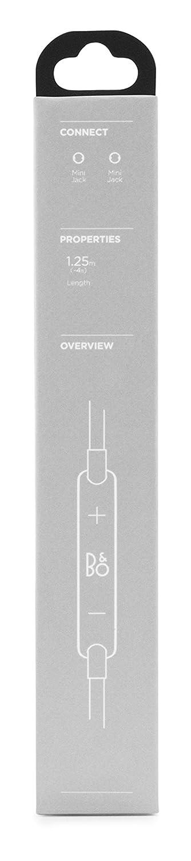 B/&O PLAY by Bang /& Olufsen color negro Cable H2//H6 con tres botones y micr/ófono para dispositivos iOS
