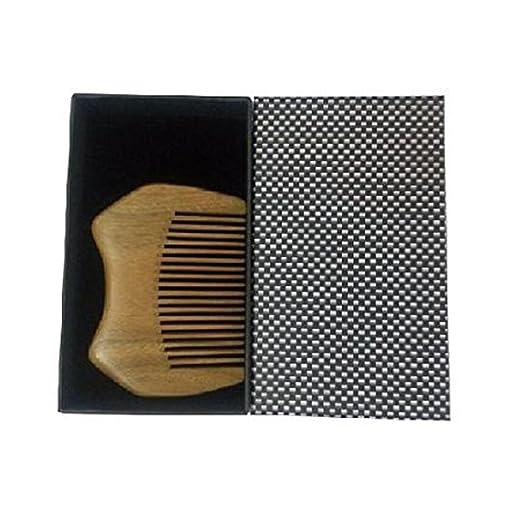2 opinioni per EQLEF® piccola dimensione eccellente del sandalo verde bosco portafoglio pettine