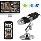 XCSOURCE 40X-1000X Zoom USB Digital Microscope 8LED Light Endoscope Magnifier Video Camera with Stand TE895