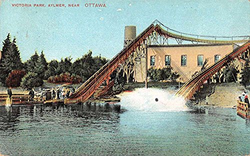 Ontario Canada Pc - Aylmer Ontario Canada water slides Victoria Park antique pc Z28675