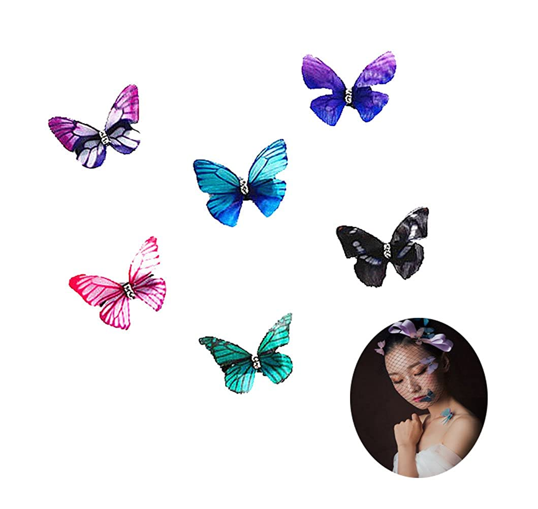Butterfly Hair Clips Hairpin Chiffon Butterfly Hair Accessories Bride Headdress