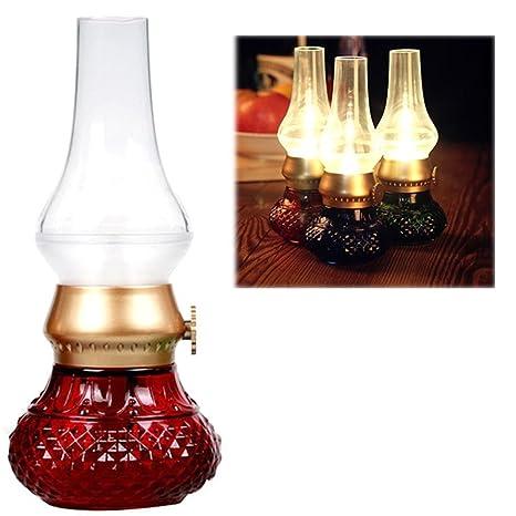 Decorativa recargables sin llama vela Farol, Vintage aceite ...