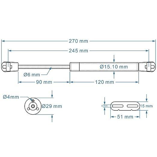 2er Hydraulic Gasdruckfeder Möbeltür zum Gas Strut Lift Schrank Tür ...