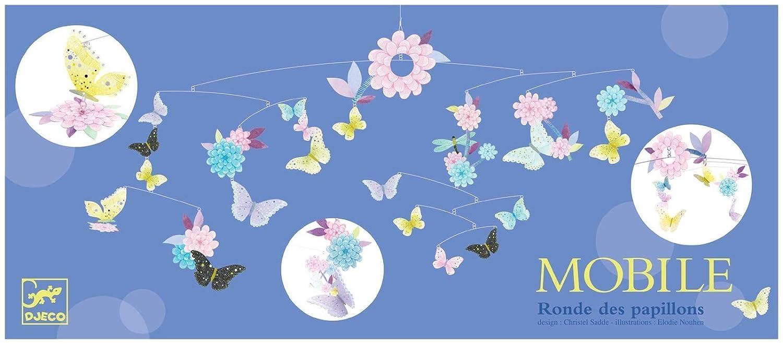 Ronde des papillons Mobile en papier FSC Djeco