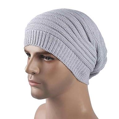 77be543b6f8 XOWRTE Men s Winter Warm Cashmere Crochet Ski Knit Cap Hat at Amazon Men s  Clothing store