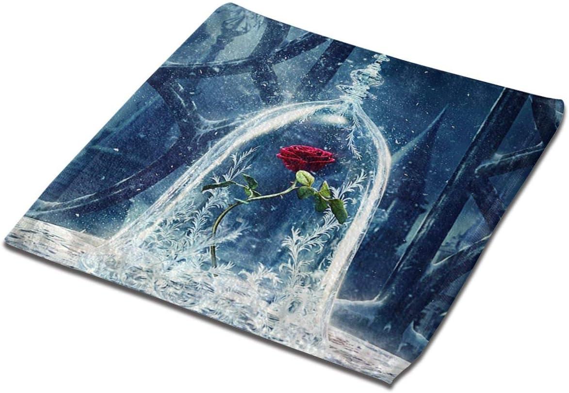 Rose de la Belle B/ête tr/ès Absorbant Lavable en Machine 33 x 33 cm 100/% Coton TTYIY Lot de 3 torchons de Cuisine