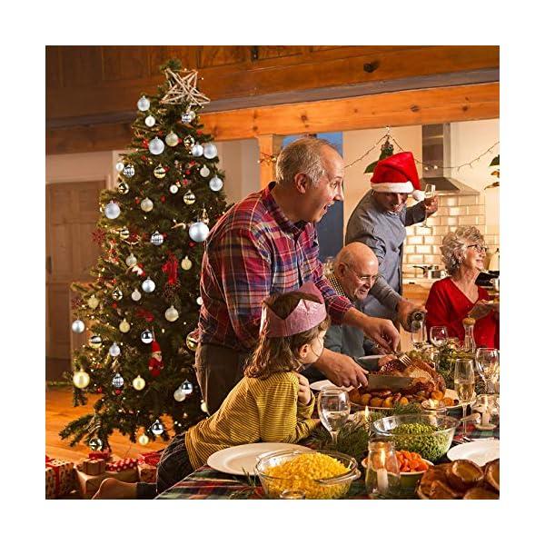 Funmo Palline di Natale, Set di 34 Palle di Natale, Palline di plastica per Alberi, Albero di Natale Deco Appeso, addobbi Natalizi nei ristoranti per Feste, Oro, 6cm 7 spesavip