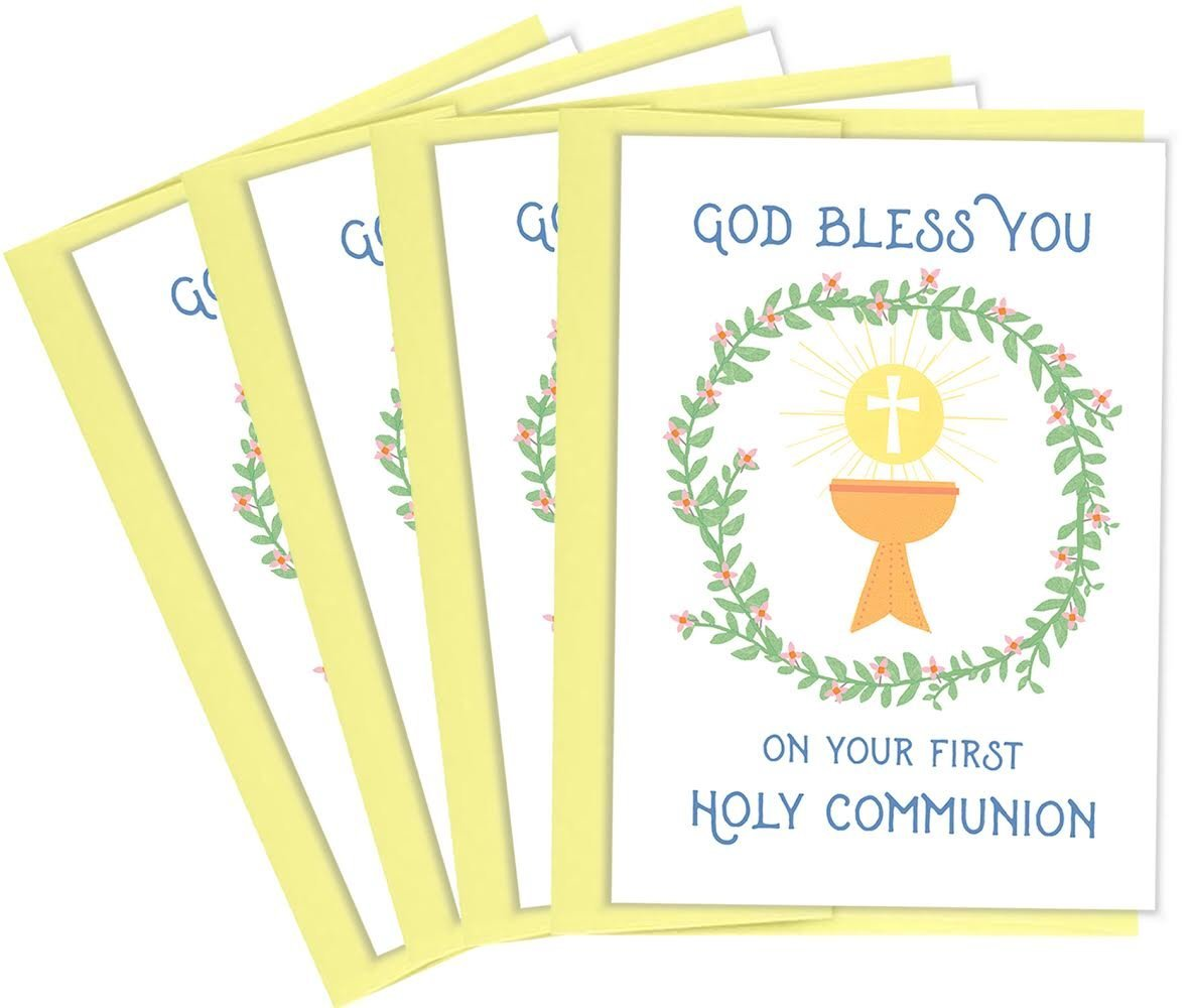Amazon Tiny Expressions First Holy Communion Greeting Cards 4