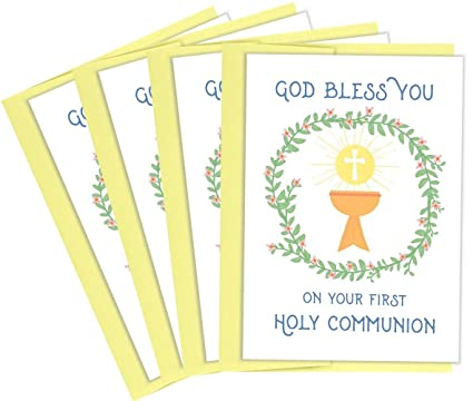 Amazon tiny expressions first holy communion greeting cards 4 tiny expressions first holy communion greeting cards 4 pack m4hsunfo