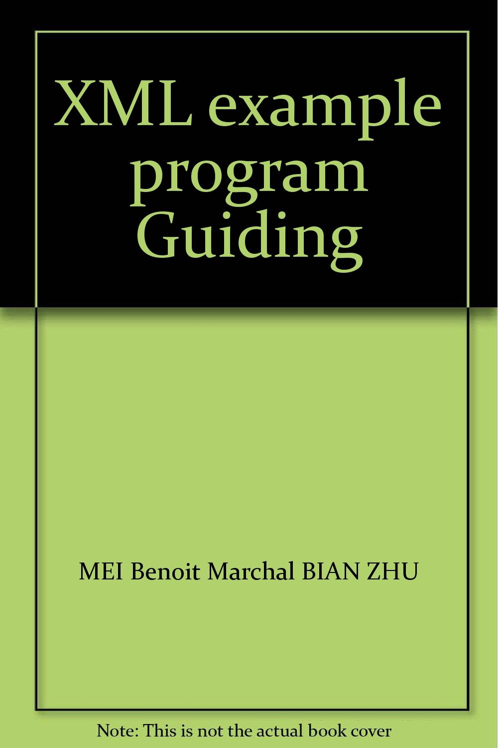 XML example program Guiding: MEI Benoit Marchal BIAN ZHU: 9787302058120:  Amazon.com: Books