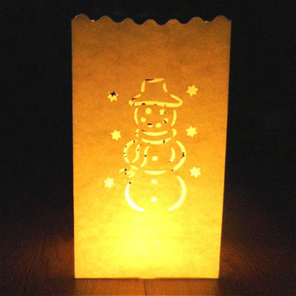 e-shop2door Candle Luminary Bags (Pack of 10) -Snowman biaoji craft
